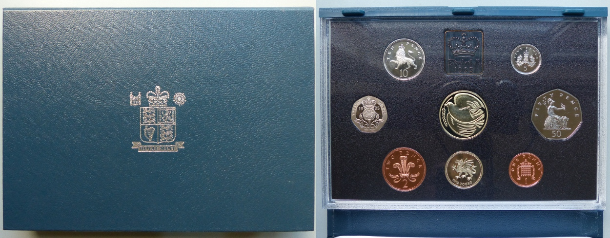 1995 Proof Coin Collection, blue case