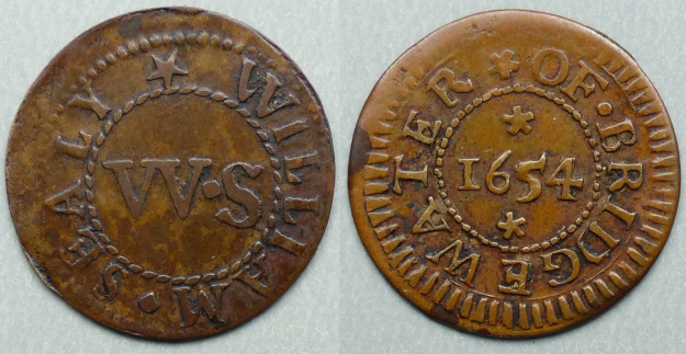 Bridgwater, William Sealy 1654 farthing
