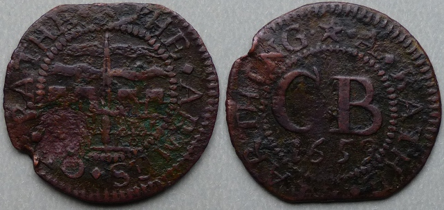 Bath, city issue 1659 farthing N3946