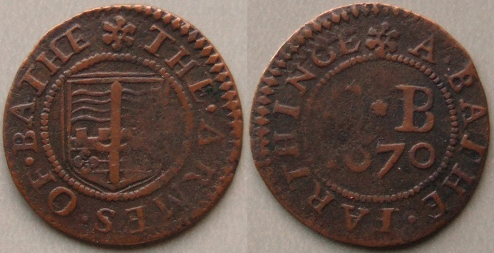 Bath, city issue 1670 farthing N3950