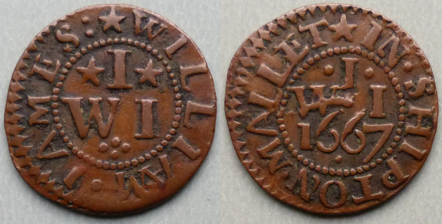 Shepton Mallet, William James 1667 farthing N----