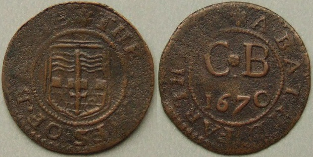 Bath, city issue 1670 farthing N3948