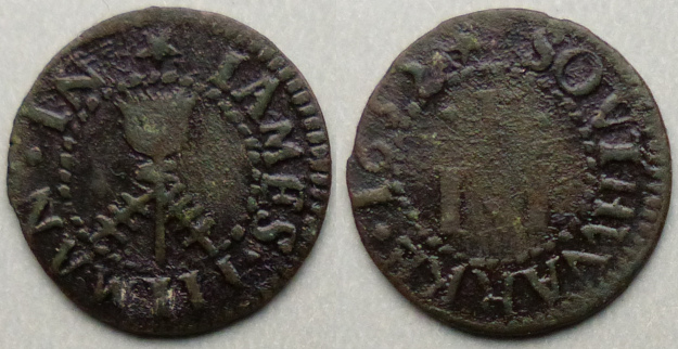 Borough High Street, James Pitman 1655 farthing