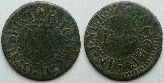 Eye, Richard Guilbert 1659 farthing