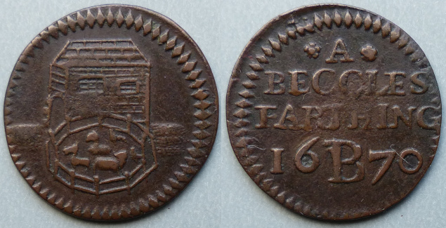 Beccles, corporation issue 1670 farthing
