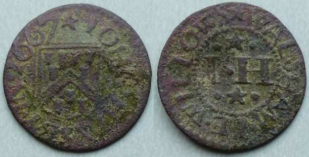 Walsham-le-Willows, John Hynsby 1667 farthing