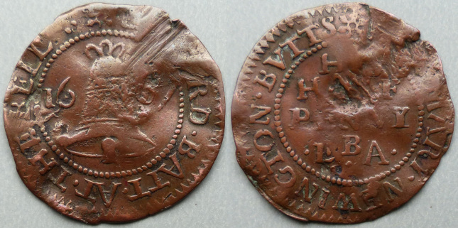 Newington Butts, Edward Batt 1667 halfpenny