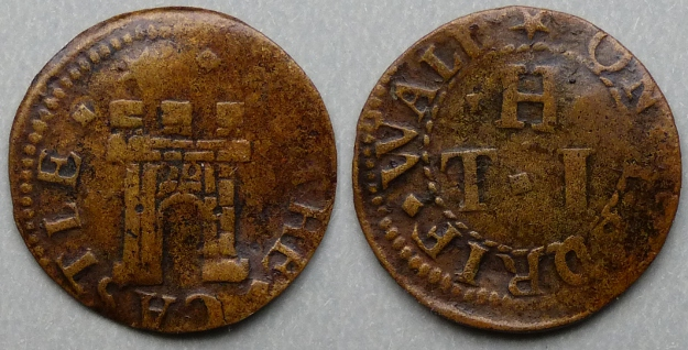 Rotherhithe, T H (I) AT THE CASTLE farthing token