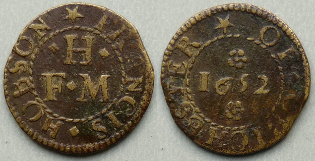 Chichester, Francis Hobson 1652 farthing