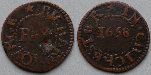 Chichester, Richard Younge 1658 farthing