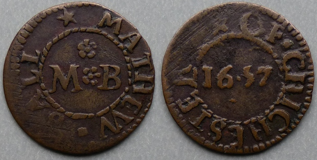 Chichester, Mathew Ball 1657 farthing