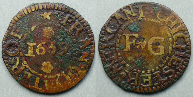 Chichester, Fran Goater 1659 farthing