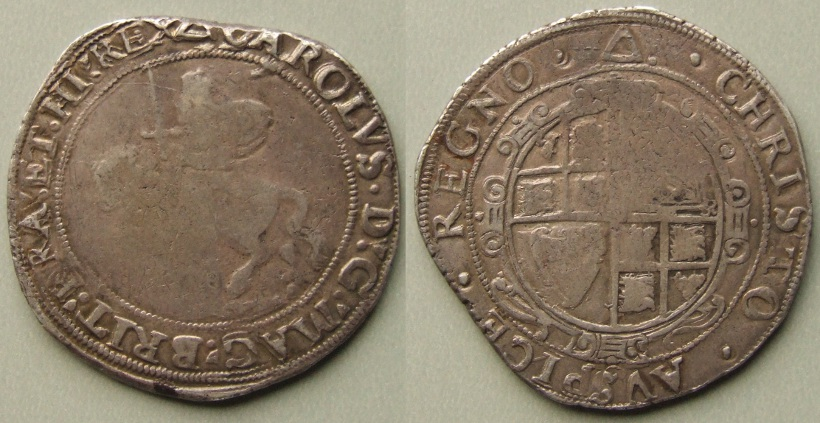 Tower mint halfcrown, mm triangle 1639-40