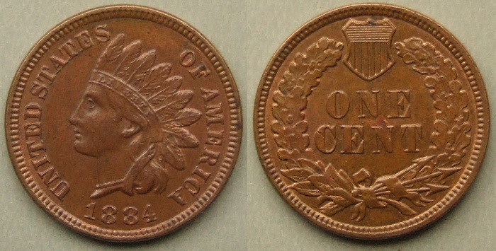 1884 Indian Head cent/penny