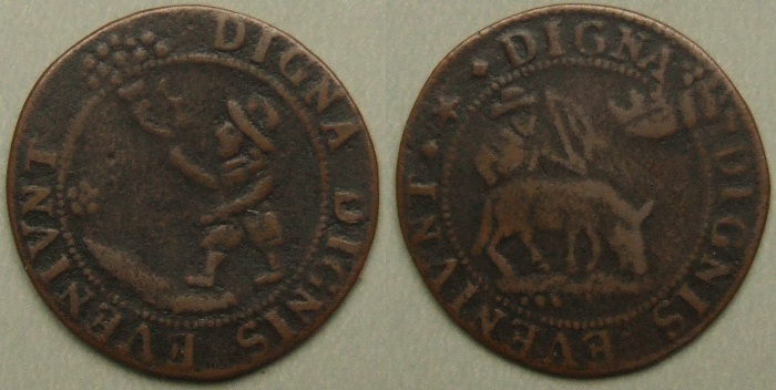 17th century, School Reward token