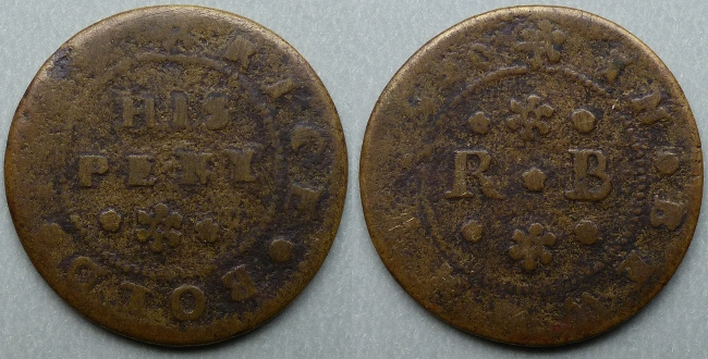 Beaumaris, Rice Bold 1669 penny