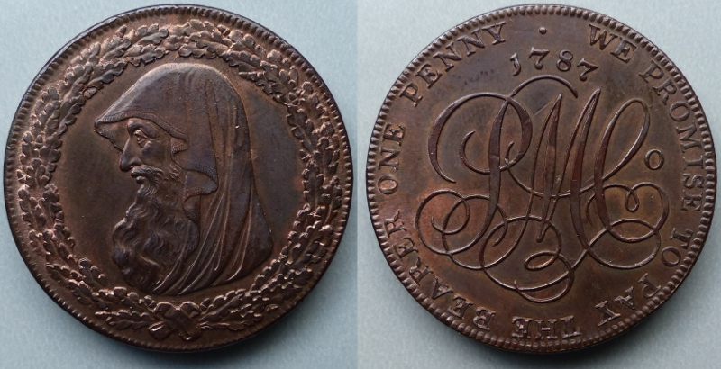 Anglesey Mines 1787 One Penny Token D&H 30
