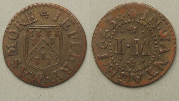 Wantage, Jeffery Masmore 1663 farthing