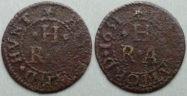 Stratford-on-Avon, Richard Hunt 1651 farthing