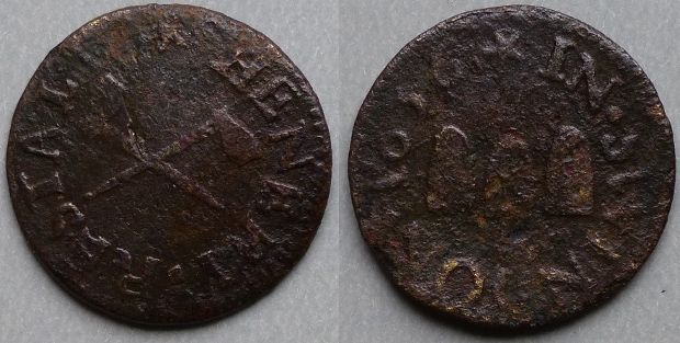Swindon, Henery Restall 1656 farthing