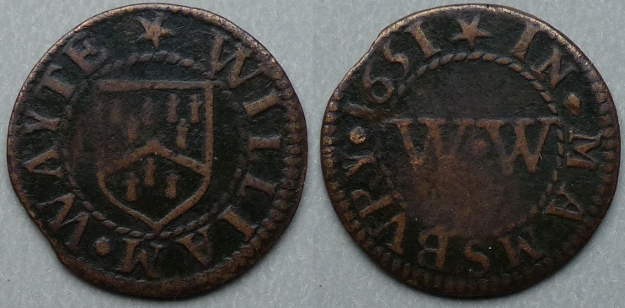 Malmesbury, William Wayte 1651 farthing
