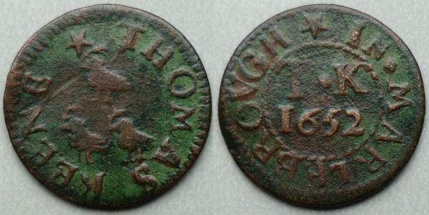 Marlborough, Thomas Keene farthing 1652 N5516