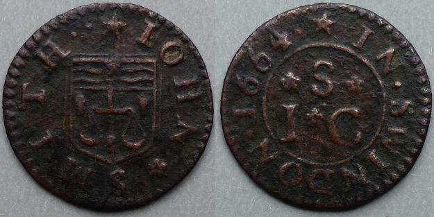 Swindon, John Smith 1664 farthing
