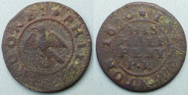 Downton, Philip Rooke 1670 farthing