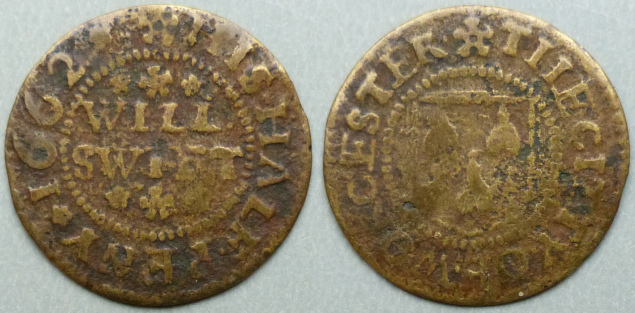 Worcester, Will Swift 1662 halfpenny