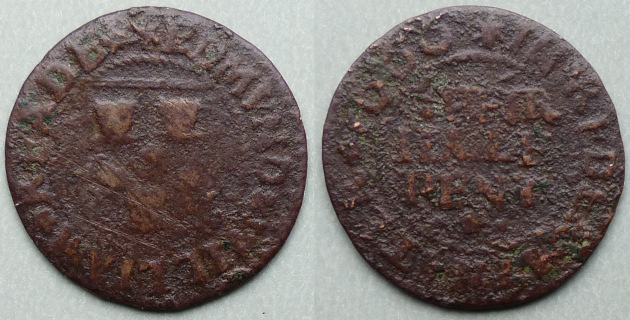 Kidderminster, Edmund & William Reade 1666 halfpenny