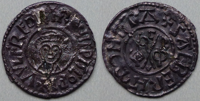 Portrait penny of Wulfred.