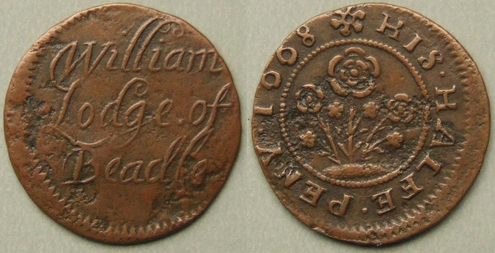 Bedale, William Lodge 1668 halfpenny