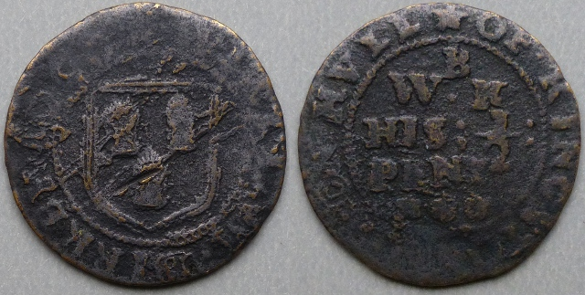 Kingston-upon-Hull, William Birkby 1668 halfpenny