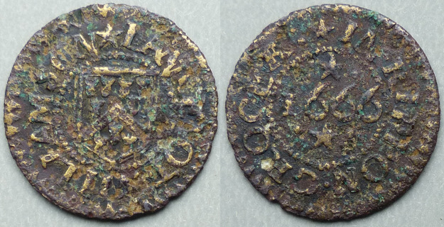 Ripon, Lancelot Williamson 1666 farthing