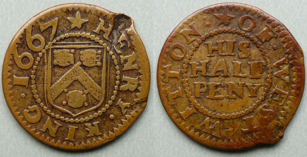 West Witton, Henry King 1667 halfpenny