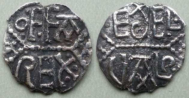 Offa Light Coinage Penny Of London c.780 - 792.